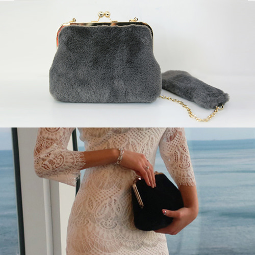 teddy clutch bag