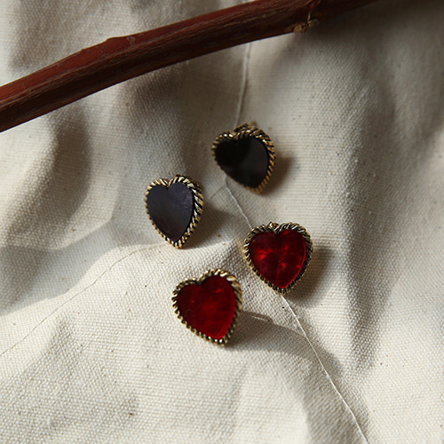 gorgeous heart earing