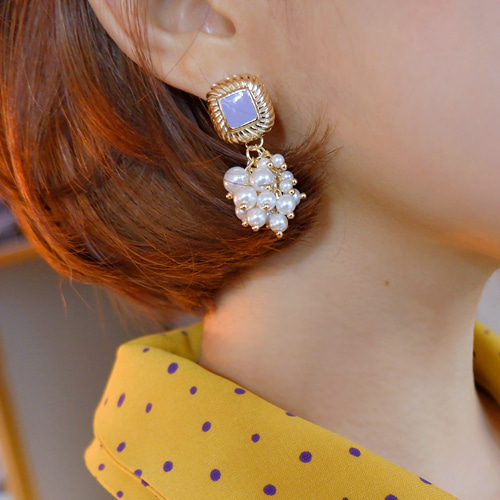 antic flora earring