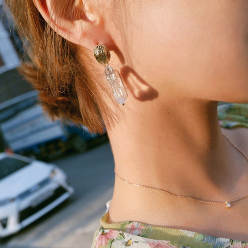 transparent earring