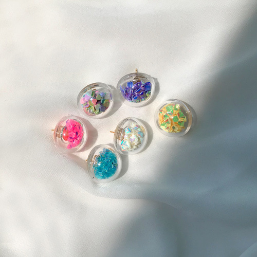 colorful dome earring
